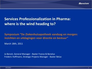 Services Professionalization in Pharma: where is the ... - AZ Groeninge