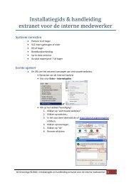 handleiding toegang tot het intranet van thuis uit ... - AZ Groeninge