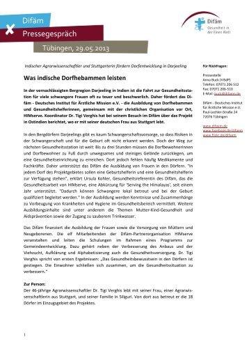 Lesen Sie mehr - Deutsches Institut für Ärztliche Mission eV
