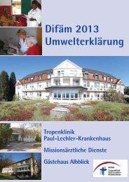 Umwelterklärung - Deutsches Institut für Ärztliche Mission eV