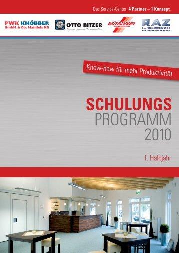 SCHULUNGS PROGRAMM 2010 - Otto Bitzer GmbH