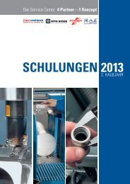 Schulungsprogramm 2. Halbjahr 2013 - Otto Bitzer GmbH