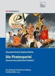 Piratenpartei – Havarie eines politischen Projekts - Otto Brenner Shop