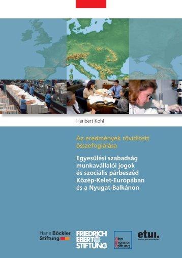 Egyesülési szabadság munkavállalói jogok és szociális párbeszéd ...