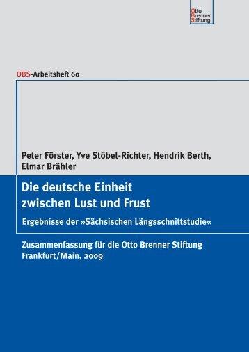 Die deutsche Einheit zwischen Lust und Frust - Otto Brenner Shop