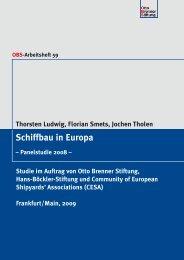 Schiffbau in Europa - Otto Brenner Shop