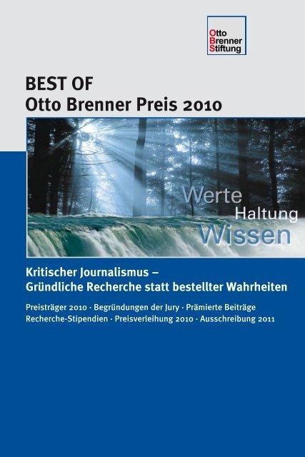 BEST OF Otto Brenner Preis 2010 - Otto Brenner Shop