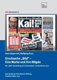 """Drucksache """"Bild"""" – Eine Marke und ihre Mägde - Otto Brenner Shop"""