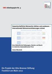 Gewerkschaftliche Netzwerke stärken und ausbauen - Otto Brenner ...