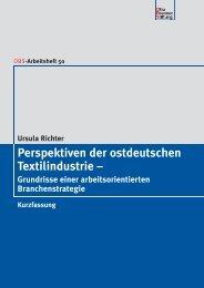 Perspektiven der ostdeutschen Textilindustrie – - Otto Brenner Shop