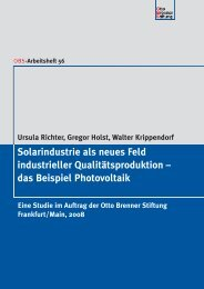 Solarindustrie als neues Feld industrieller ... - scottie.LAB