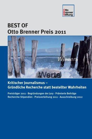 BEST OF Otto Brenner Preis 2011 - Otto Brenner Shop