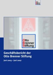Geschäftsbericht der Otto Brenner Stiftung - Otto Brenner Shop