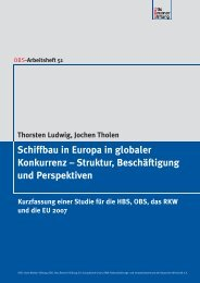 Schiffbau in Europa in globaler Konkurrenz - Otto Brenner Shop