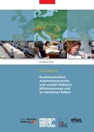 Koalitionsfreiheit, Arbeitnehmerrechte und sozialer Dialog in ...