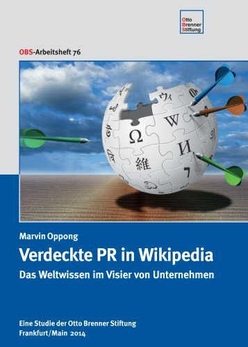 Verdeckte PR in Wikipedia - Otto Brenner Shop