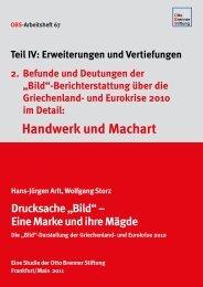 Handwerk und Machart - Otto Brenner Stiftung
