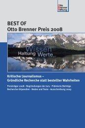 BEST OF Otto Brenner Preis 2008 Kritischer Journalismus