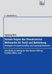 Soziale Folgen des liberalisierten Weltmarkts für ... - SÜDWIND-Institut