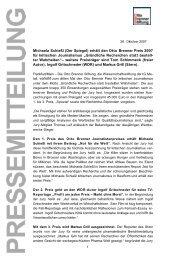 Pressemitteilung als PDF-Datei [44 KB] - Otto Brenner Stiftung