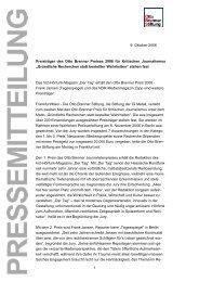 Pressemitteilung [PDF - 36 KB] - Otto Brenner Stiftung