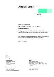 Nr. 19 Standort, Unternehmenskompetenz und Netzwerkbildung