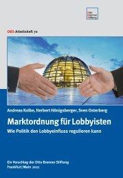 Marktordnung für Lobbyisten - Otto Brenner Shop