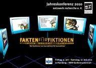 aktuelles Programm nr-Jahrestagung 2010 - Otto Brenner Stiftung