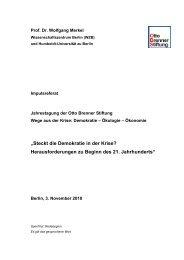 Steckt die Demokratie in der Krise - Otto Brenner Stiftung