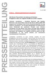 Pressemitteilung als PDF [76 KB] - Otto Brenner Stiftung