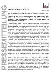Pressemitteilung Otto Brenner Preis 2012 – Die Preisträger