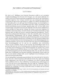 Zum Verhältnis von Wissenschaft und Weltanschauung* 1 von O. F. ...