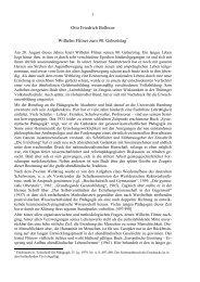Otto Friedrich Bollnow Wilhelm Flitner zum 90. Geburtstag*