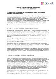 Top Ten Inkjet Questions & Answers Ian Dinwoodie, CEO ... - Faktum