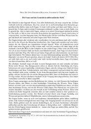 Die Frage und das Gespräch in philosophischer Sicht* Der Mensch ...
