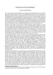 Kierkegaard und die Existenzphilosophie - Otto Friedrich Bollnow
