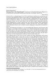 Otto Friedrich Bollnow Besprechungsaufsatz* Hermann Hesse: Das ...