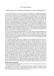 Wilhelm Meister - Otto Friedrich Bollnow