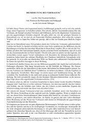 1 DIE BEDEUTUNG DES VERTRAUENS * von Dr. Otto Friedrich ...