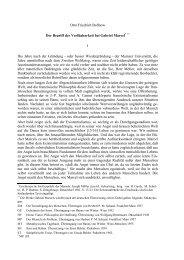 Otto Friedrich Bollnow Der Begriff der Verfügbarkeit bei Gabriel ...