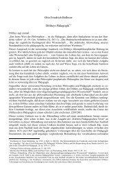 Otto Friedrich Bollnow Diltheys Pädagogik*1