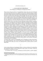 ALS ALLEIN EIN GUTER WILLE - Otto Friedrich Bollnow