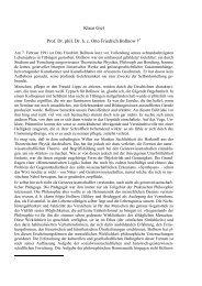 Klaus Giel Prof. Dr. phil. Dr. h. c. Otto Friedrich Bollnow †*