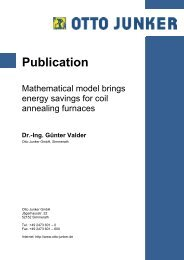Mathematical model brings energy savings for coil annealing furnace