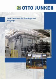 Heat Treatment for Castings and Forgings - Otto Junker GmbH