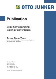 Billet homogenising _batch or continuous - Otto Junker GmbH