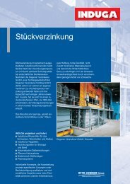 Stückverzinkung - Otto Junker GmbH