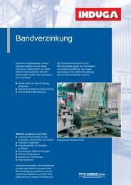 Bandverzinkung - Otto Junker GmbH