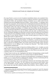 Sicherheit und Frieden als Aufgabe der Erziehung - Otto Friedrich ...
