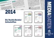 MEDIA DATEN 2014 - Verlag Dr. Otto Schmidt